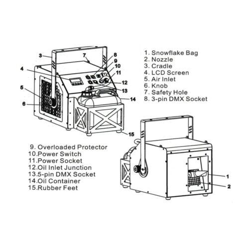 8 11 2 Dj Power Hs2 Snow Machine
